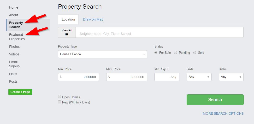 facebook real estate listings